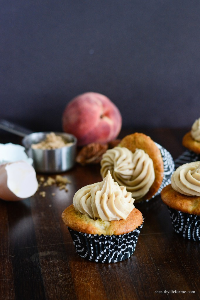 Peach Cupcake Brown Sugar Frosting Recipe | ahealthylifeforme.com
