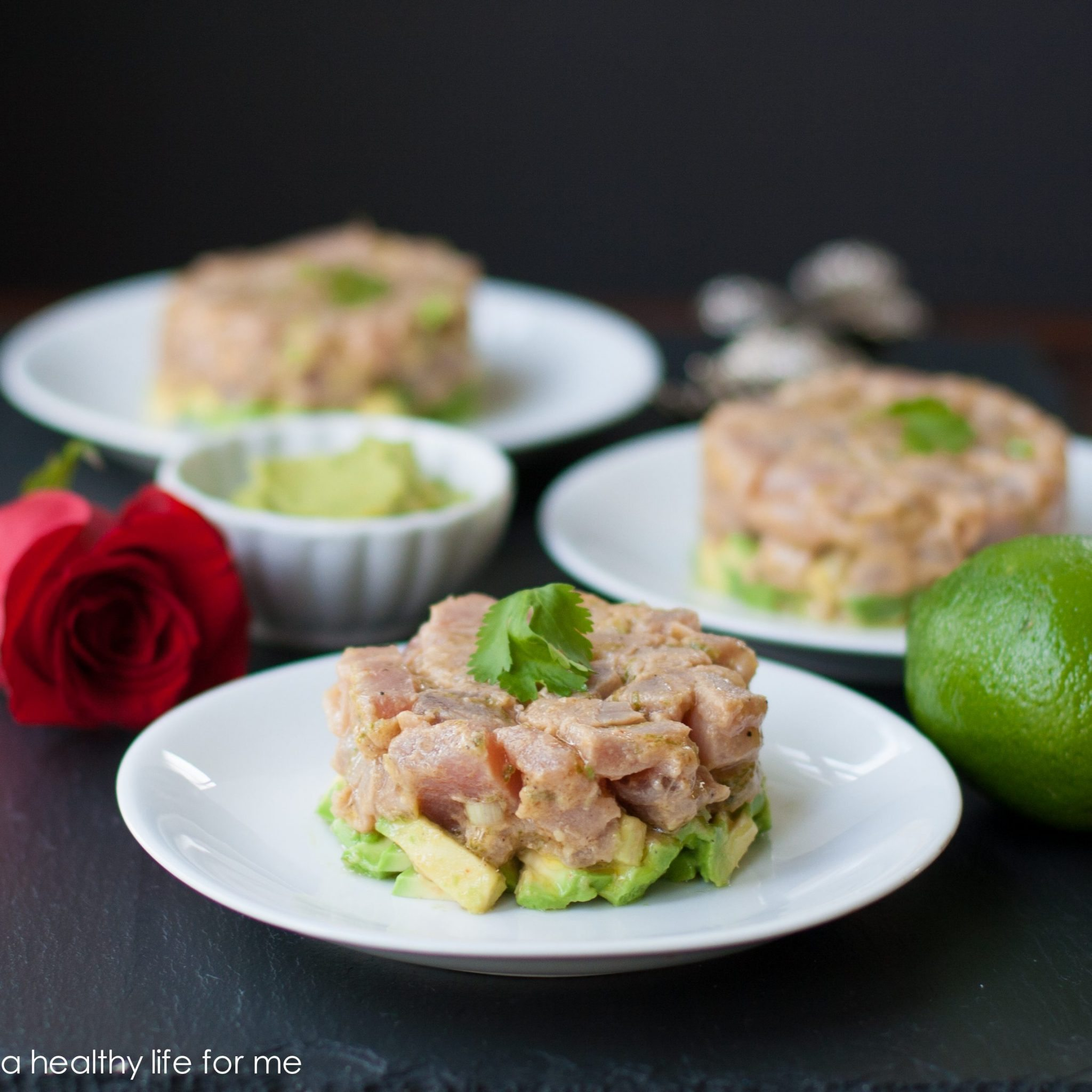 Tuna Tartare recipe on www.ahealthylifeforme.com