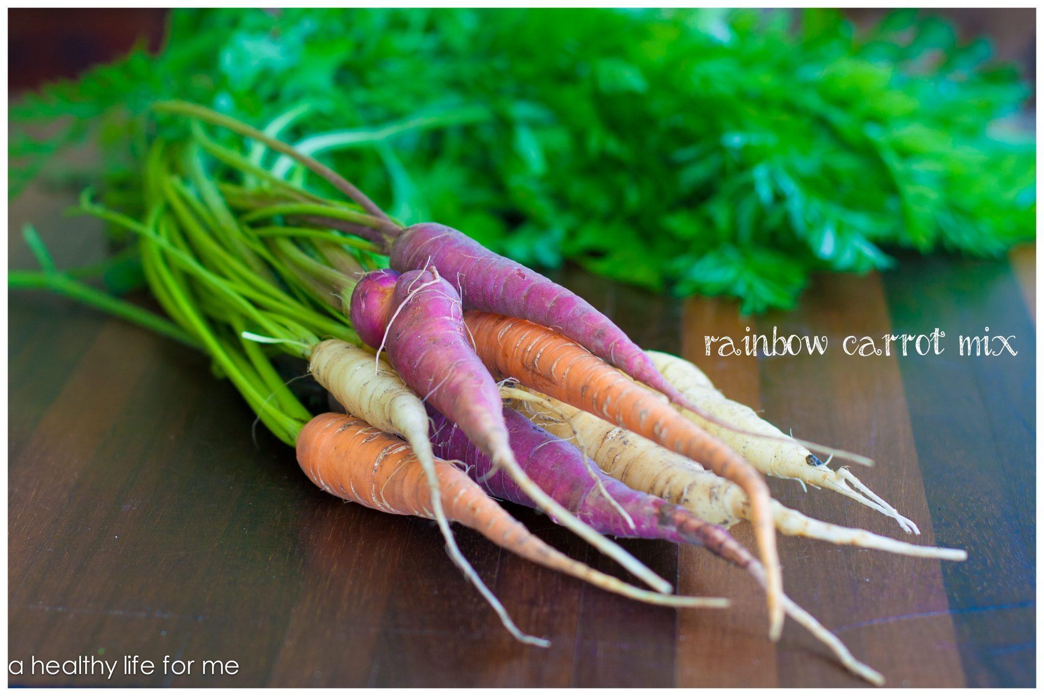Organic Rainbow Carrots Organic Rainbow Carrot Mix