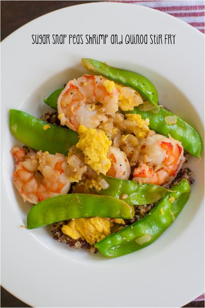 Sugar Snap Pea Shrimp and Quinoa Stir Fry Recipe | ahealthylifeforme.com