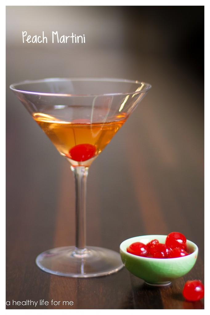Peach martini a healthy life for me for Basic martini recipe vodka