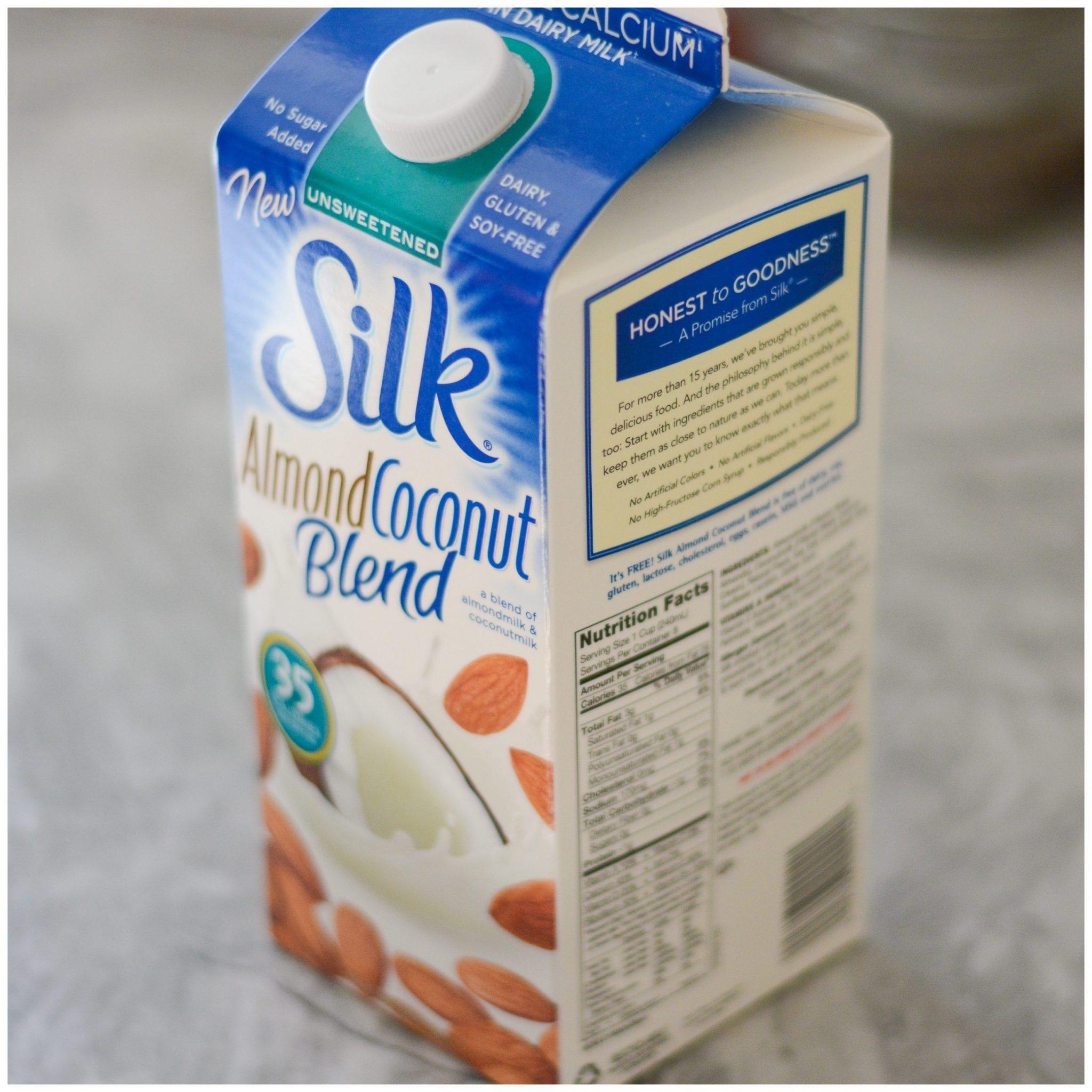 Silk Almond Milk Unsweetened Coconut Milk In A Coco...