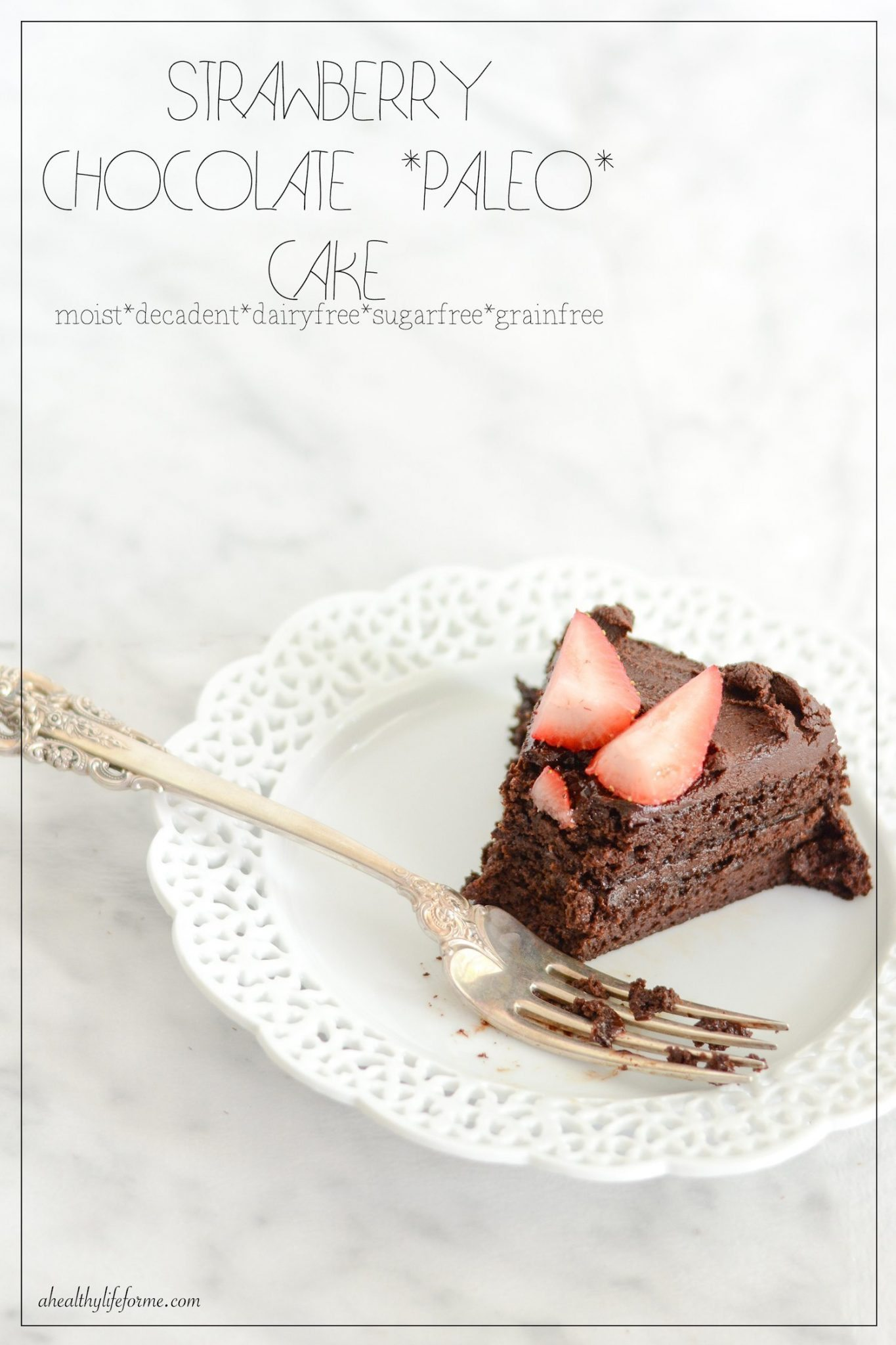 Strawberry Chocolate Paleo Cake