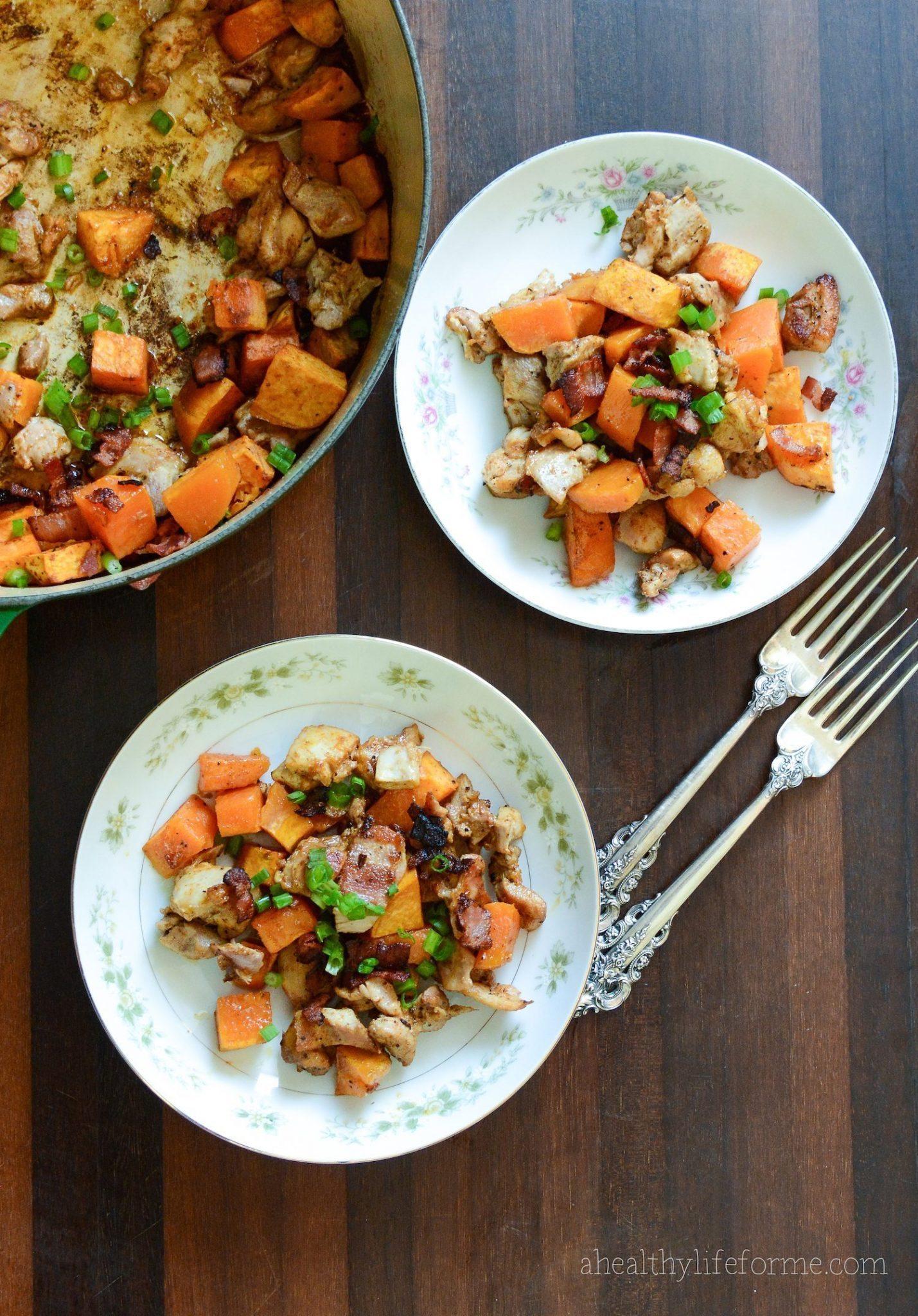Sweet Potato Spicy Chicken {paleo + gluten free}A Healthy Life