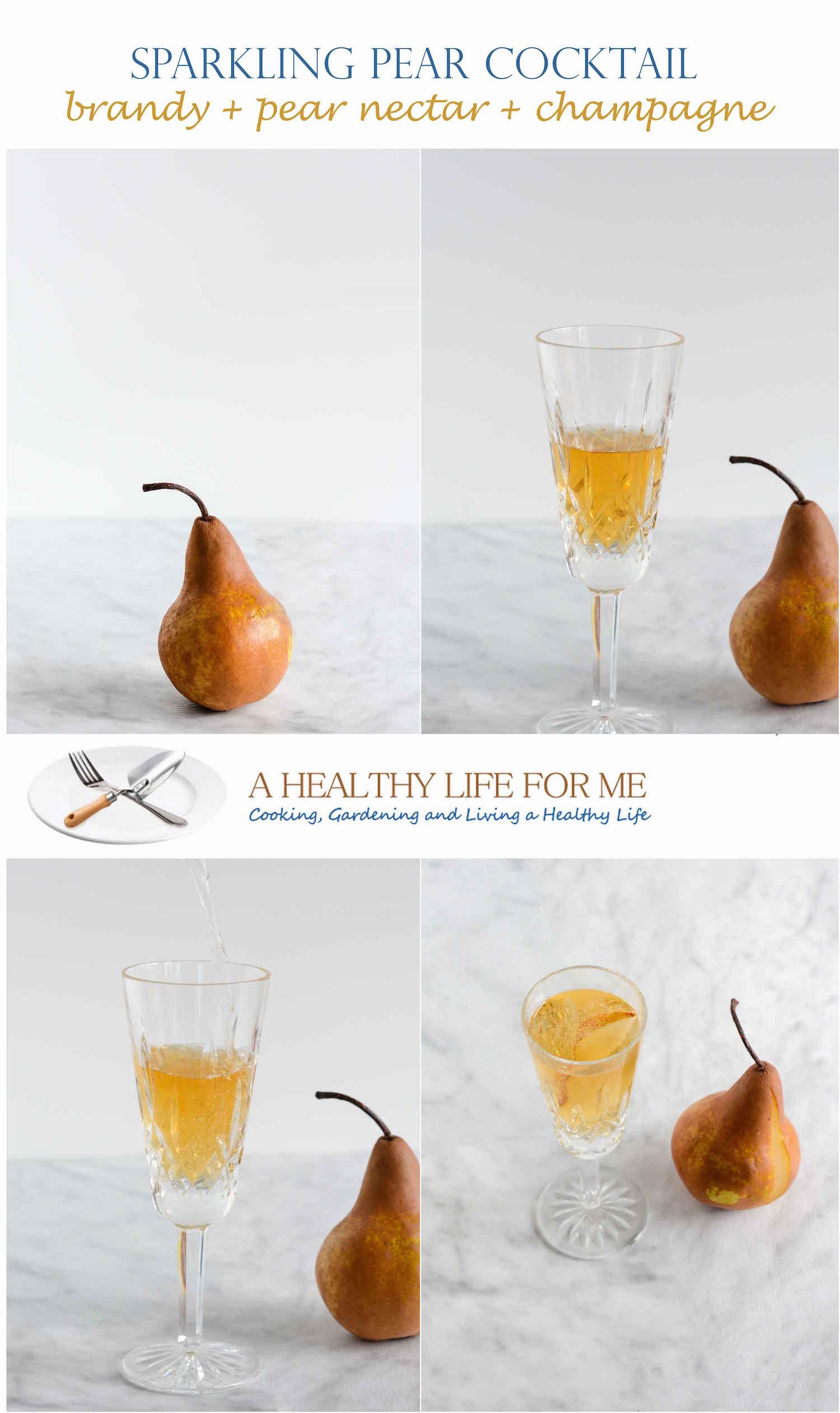 Sparkling Pear Cocktail Recipe | ahealthylifeforme.com