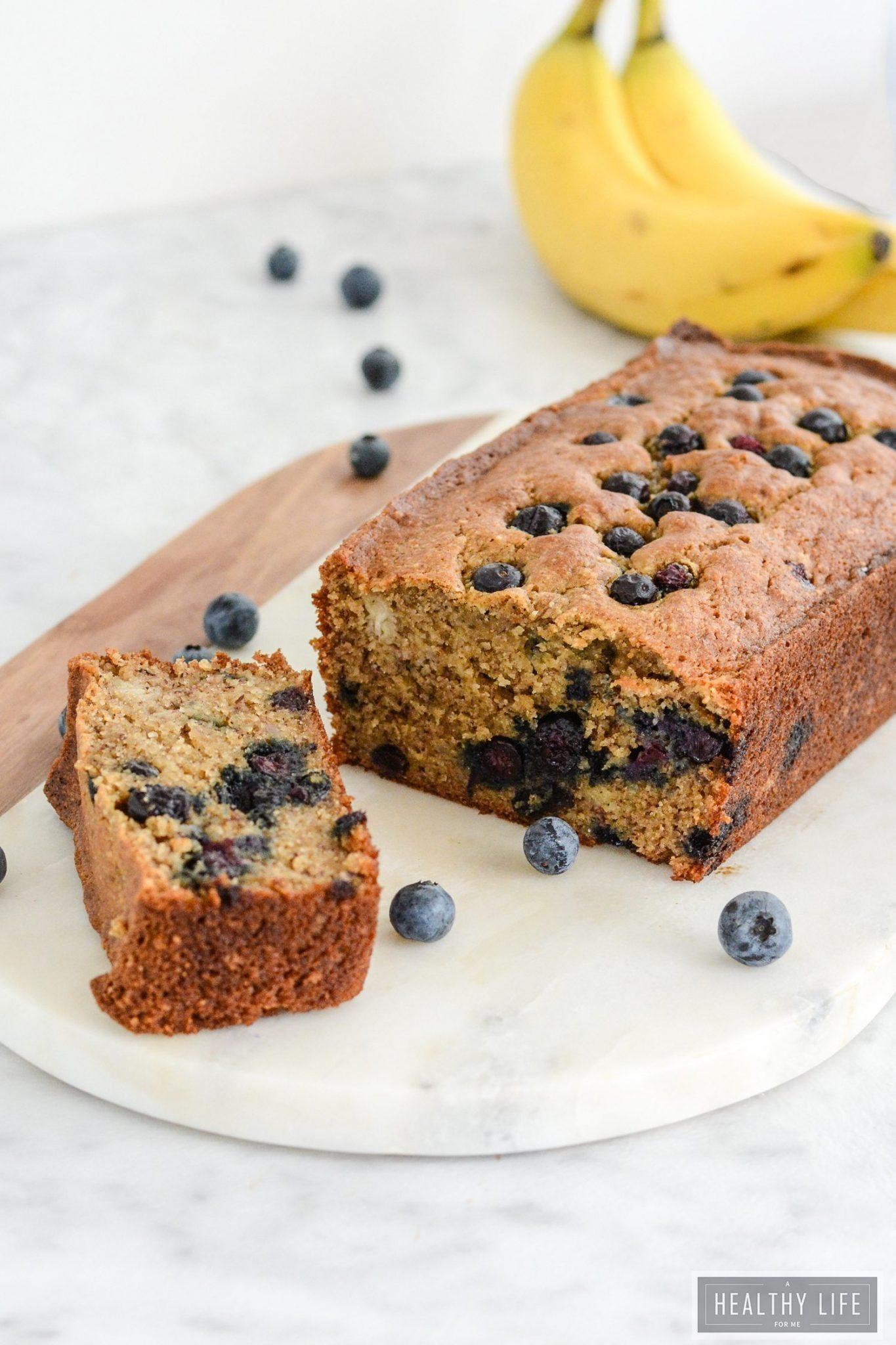 Gluten Free Banana Blueberry Bread {Paleo + Vegeterian ...